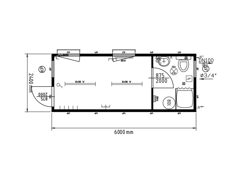 Monoblocchi uso dormitorio e uso mensa